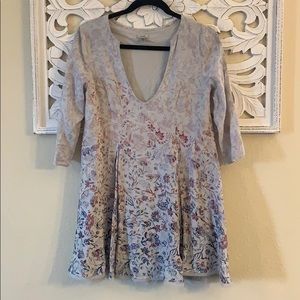 Urban Outfitters Ecote Floral Purple & Gray Top